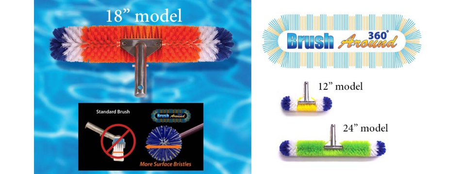 Blue Torrent / 360 Brush Around Pool Brush