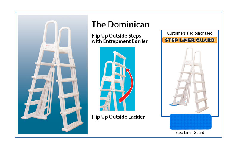 The Dominican pool step ladder