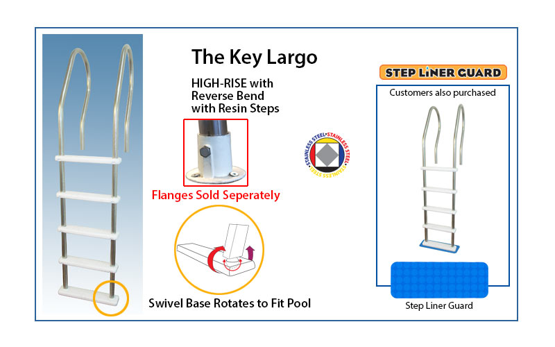 The Key Largo high-rise pool ladder
