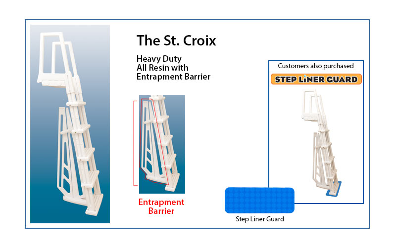 The St. Croix resin step ladder
